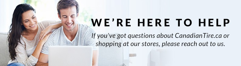 Help. From time to time you may have questions about canadiantire.ca or shopping in store. You'll find the answers here.
