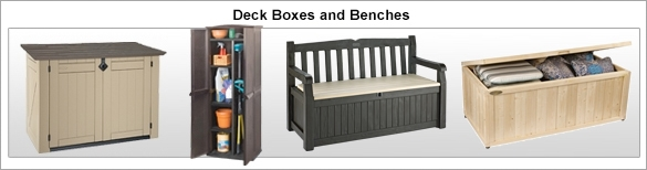 Deck Boxes and Benches