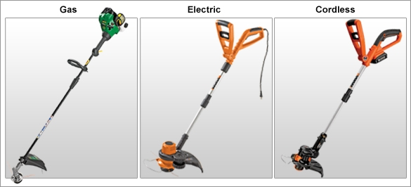 Grass Trimmer Power. Gas, Electric, and Cordless.