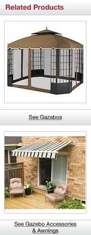 Related Gazebo and Awning Products