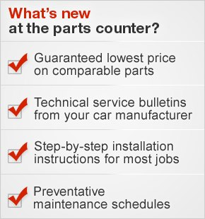 What's new at the parts counter?