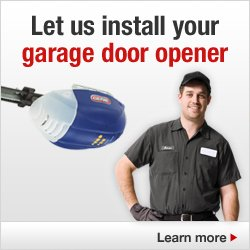 Let us install your garage door opener.