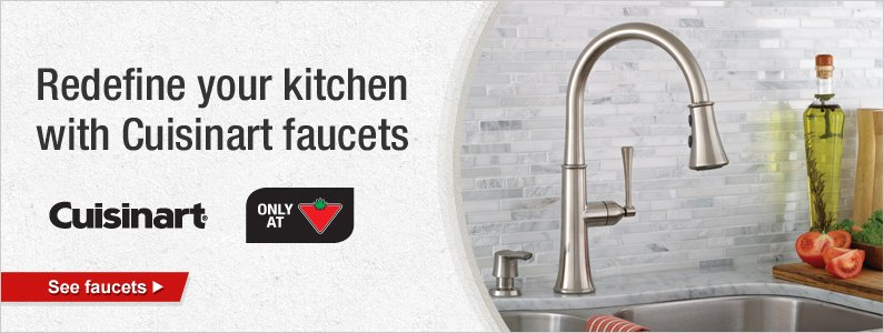 Redefine your kitchen with Cuisinart faucets. See faucets.