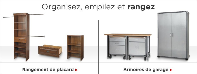 Rangement et organisation canadian tire for Meuble canadian tire