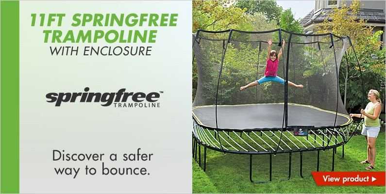 11ft Springfree Trampoline with enclosure