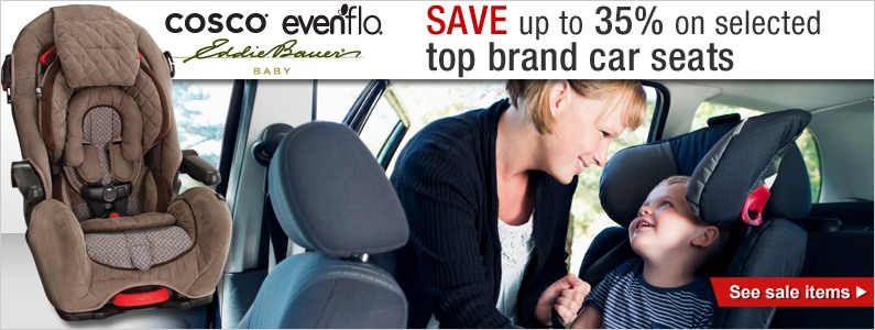 Save up to 35% on selected top brand car seats