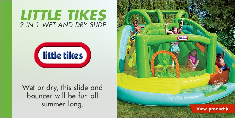 Little Tikes 2 in 1 wet and dry slide