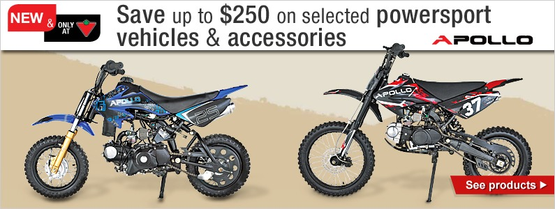 Save up to $250 on selected powersport vehicles & accessories