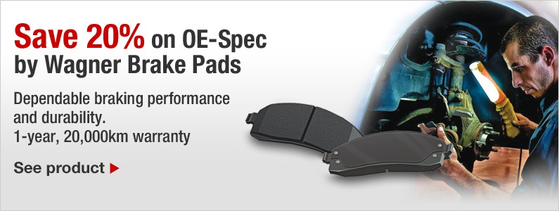 Save 20% on OE-Spec by Wagner Brake Pads