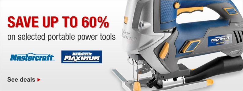 SAVE UP TO 60% on selected portable power tools. See deals.