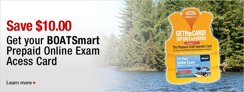 Get your BOATSmart Prepaid Online Exam Access Card