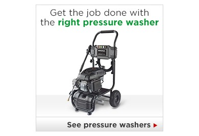 Get the job done with the right pressure washer