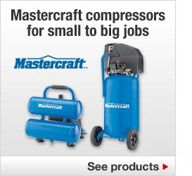 Mastercraft compressors for small to big jobs