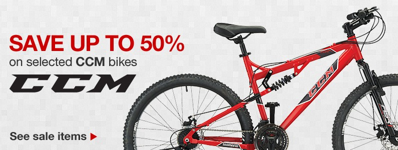 Save up to 50% on CCM bikes