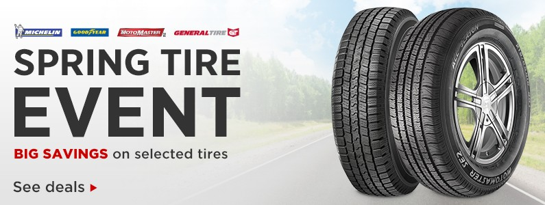 Get Ready For Spring With Big Savings On Selected Tires