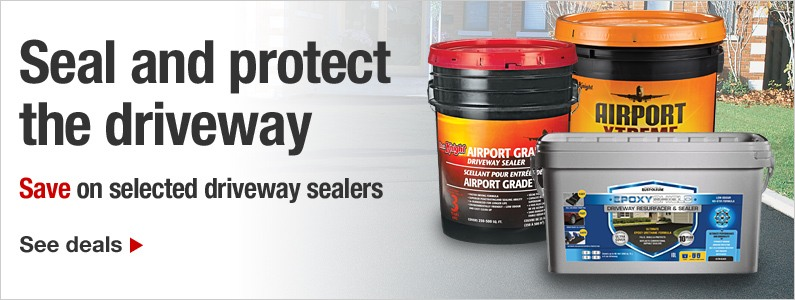 Repair the driveway. Save on selected driveway sealers. See deals.
