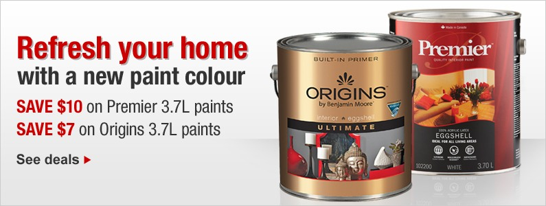 Refresh your home with a new paint colour