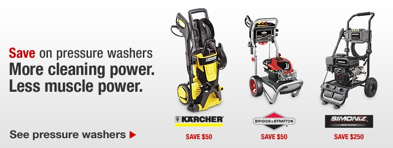 Experience the Pressure Washer advantage