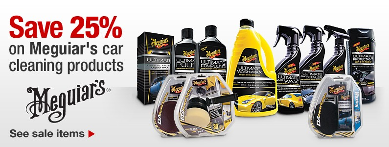 Save 25% on Meguiar's car care products