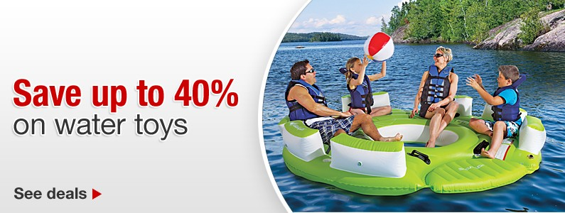 Save up to 40% on water toys