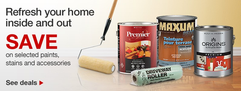 SAVE on selected paints, stains and accessories