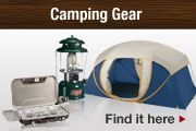 Camping Gear. Find it here.