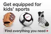 Get equipped for kids' sports. Find everything you need.