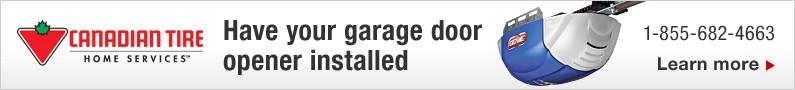 Have your garage door opener installed