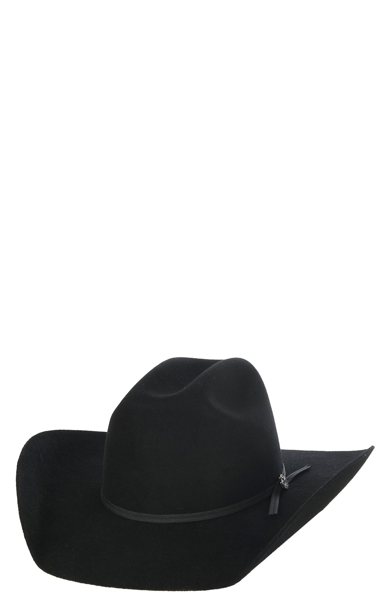 Cavender s Kids 2X Black Cattleman Crown Felt Cowboy Hat 442d22292cf