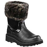 Ariat Fatbaby Ladies Black w Faux Fur Top Western Boot