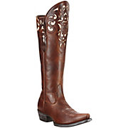 Ariat Hacienda Womens Vintage Caramel Tall Top Snip Toe Western Boots