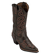 Ariat Ladies Chocolate Brown Shelleen Swirl Embroidered Snip Toe Western Boots