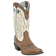 Ariat Ladies Earth Rawhide w Cream Top Punchy Square Toe Western Boot