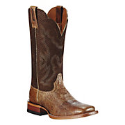 Ariat Nitro Ladies Tan Metallic w Burnt Rust Top Square Toe Western Boot