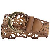 Angie Brown Scalloped Woven Belt BL119BR