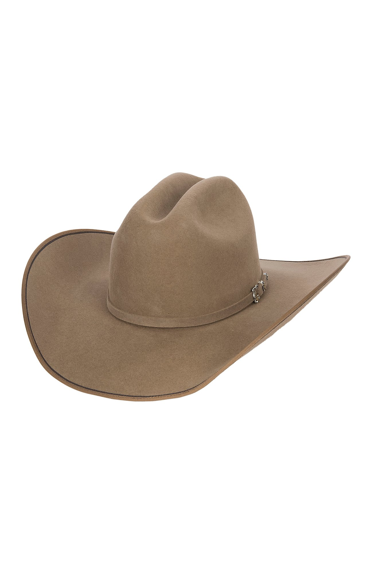 Justin 7X Pecan Hooked with Two Tone Edge Felt Cowboy Hat f0f731edfead