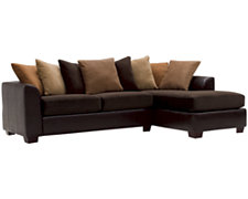 Safari Two-Tone Collage Right Chaise Sectional