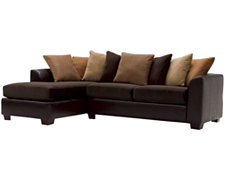 Safari Two-Tone Collage Left Chaise Sectional