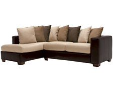 Greg Two-Tone Collage Left Chaise Sectional
