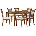 Mid Tone Rectangular Table & 4 Chairs
