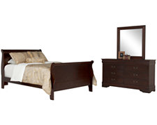 Lilian Dark Tone Sleigh Bedroom