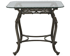 Westcot2 Glass Square End Table