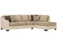 Kenya2 Two-Tone Collage Right Bumper Sectional