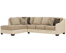 Kenya2 Two-Tone Collage Left Bumper Sectional