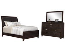 Torino Dark Tone Upholstered Panel Bedroom