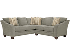 Grant2 Lt Green Microfiber Two-Arm Sectional