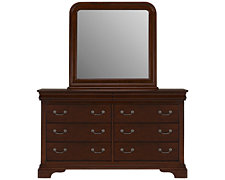 Bella Dark Tone Dresser & Mirror