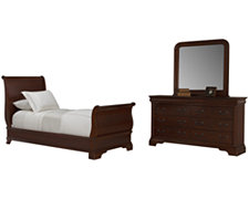 Bella Dark Tone Sleigh Bedroom