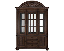 Palm Dark Tone China Cabinet