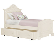 Victoria White Panel Trundle Bed